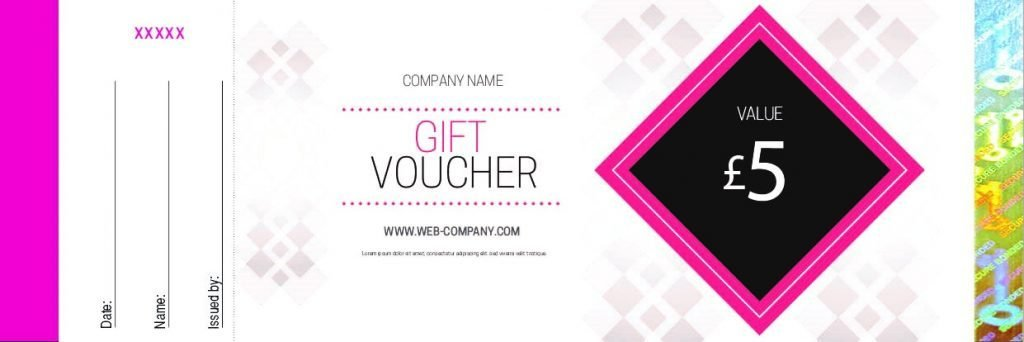 Design Samples – Gift Voucher Printing